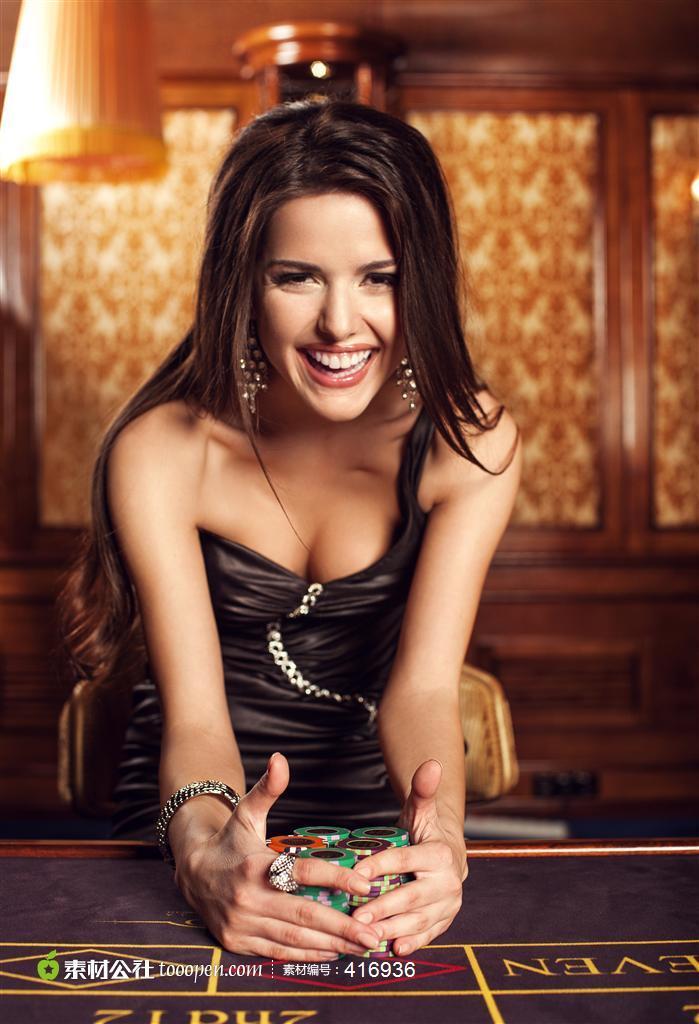 赌场美女广告图片素材